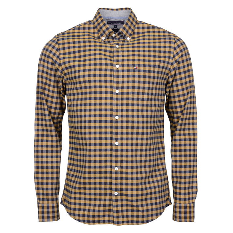 Tommy Hilfiger SHIRT GINGHAM BLUE