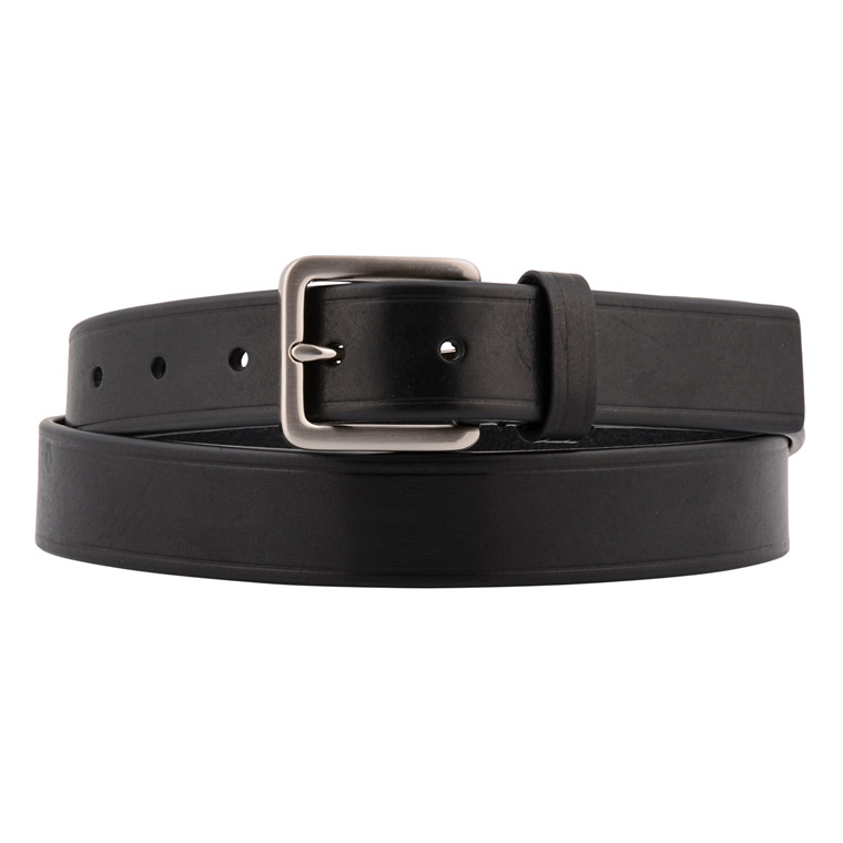 TIGER OF SWEDEN BIESE BLACK LEATHER BELT