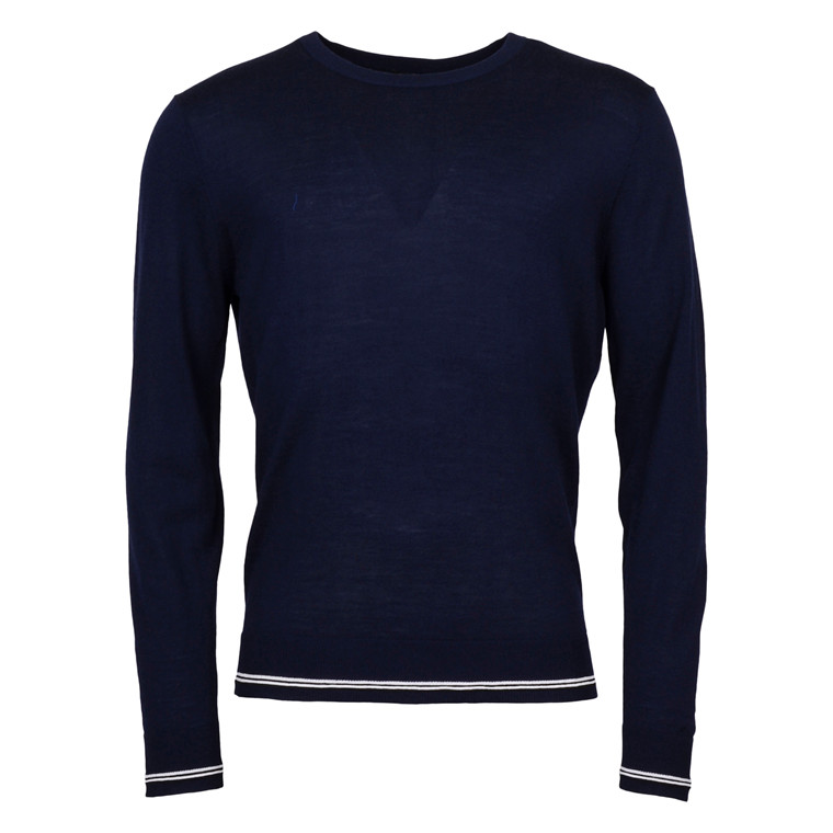 TIGER OF SWEDEN KEELER MERINO NAVY KNIT