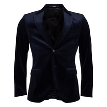 TIGER OF SWEDEN LAMONTE 3 NAVY VELOUR BLAZER