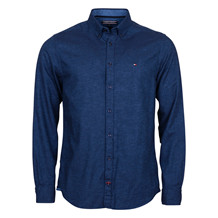 Tommy Hilfiger 2 TONE FLANNEL SHIRT-BLUE