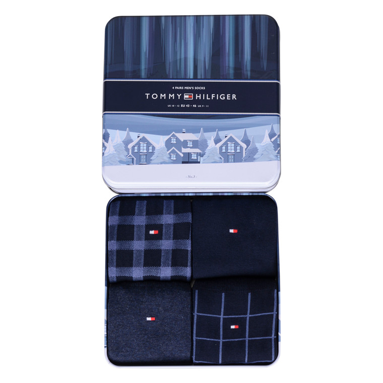 Tommy Hilfiger 4 PACK SOCK GIFT BOX-NAVY