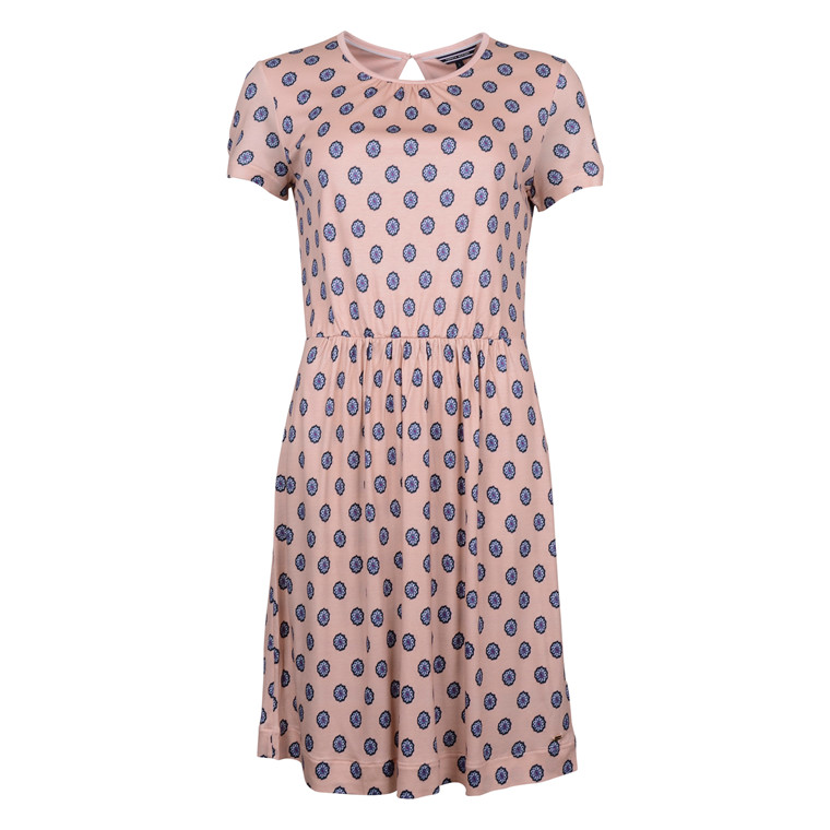 Tommy Hilfiger CAMMIE C-NK DRESS ROSE