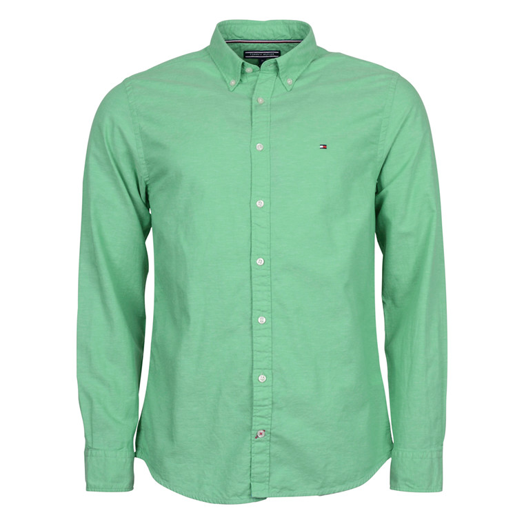 Tommy Hilfiger CO/LI OXFORD NF3 SHIRT GREEN