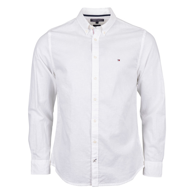 Tommy Hilfiger COTTON LINEN NF2 WHITE SHIRT