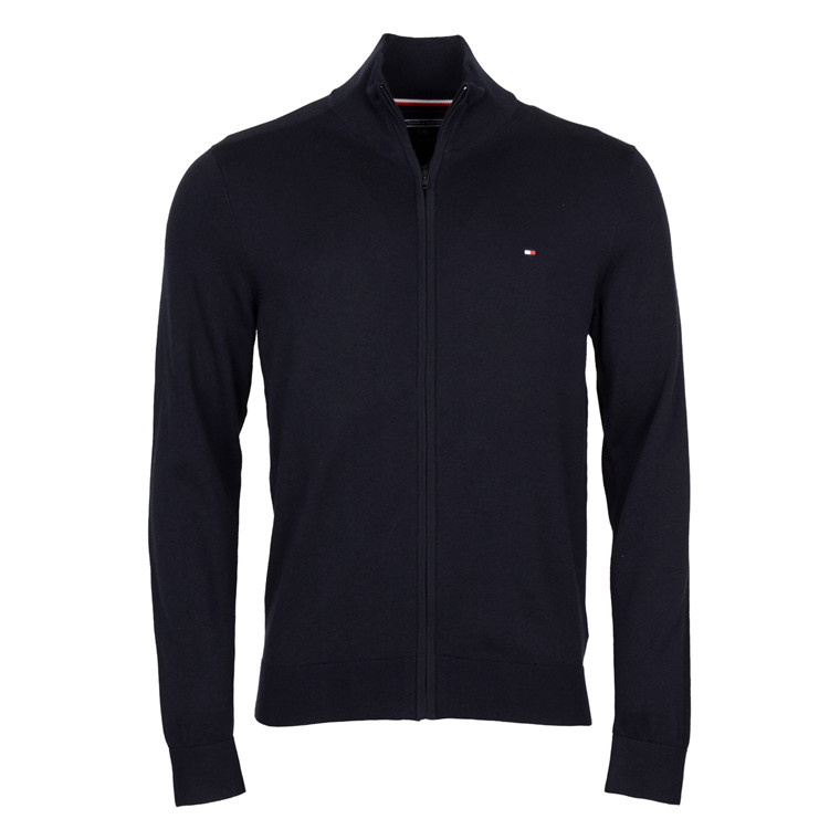Tommy Hilfiger COTTON SILK ZIP KNIT