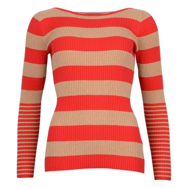 Tommy Hilfiger IVY RIB BOAT NK SWTR RED