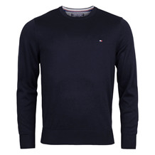 Tommy Hilfiger PLAITED SILK KNIT-NAVY