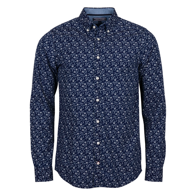 Tommy Hilfiger SLIM INDIGO FLOWER SHIRT