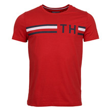 Tommy Hilfiger STRIPED LOGO TEE