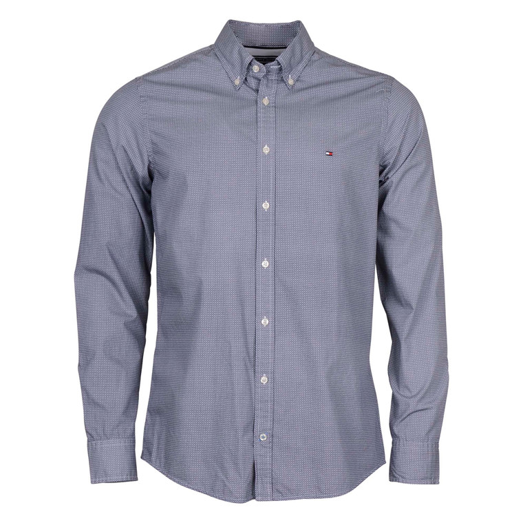 Tommy Hilfiger T. SQUARE PRINT SHIRT-BLUE
