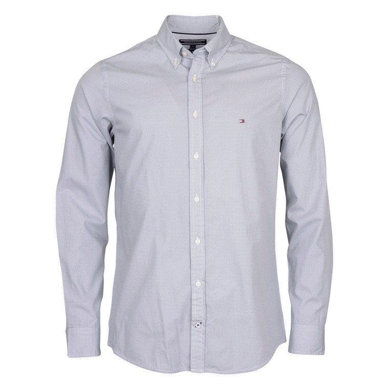 Tommy Hilfiger T. SQUARE PRINT SHIRT-GREY