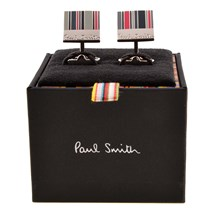 PAUL SMITH - Square logo stripe cuff