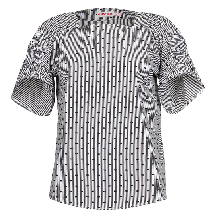 SEE BY CHLOE Jacquard coupe t-shirt