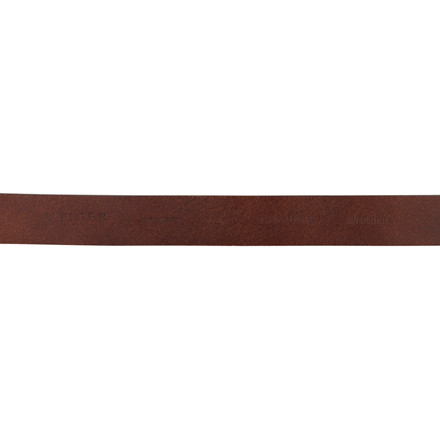 TIGER OF SWEDEN BIESE BROWN LEATHER BELT