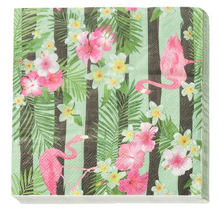 CRÉTON MAISON Papir serviet med flamingo