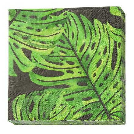 CRÉTON MAISON Papirserviet m. grønne blade