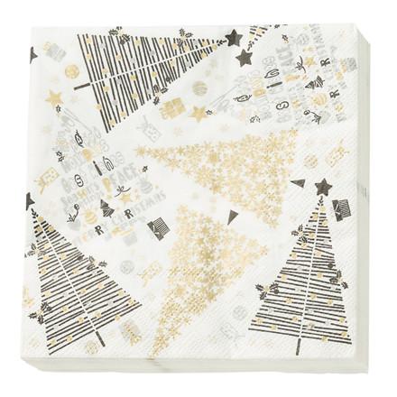 CRÉTON MAISON Papir serviet m. juletræer