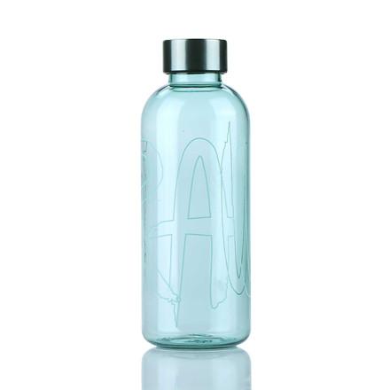AIDA RAW vandflaske m. print lysgrøn