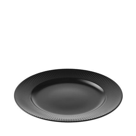 AIDA Groovy middagstallerken Ø 27 cm sort stentøj