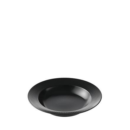 AIDA Groovy suppetallerken Ø 23 cm sort stentøj