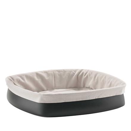 ZONE Brødkurv m. brødpose varm grå/sort