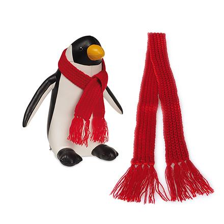 EDO Strikket  halstørklæde rød stort