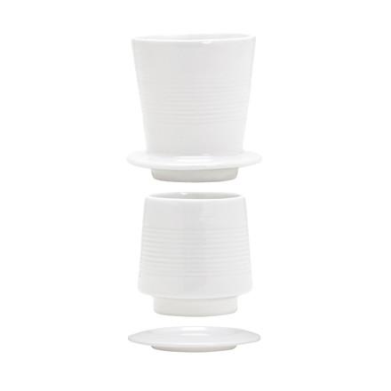 KÄHLER Baristo kaffebrygger hvid porcelæn