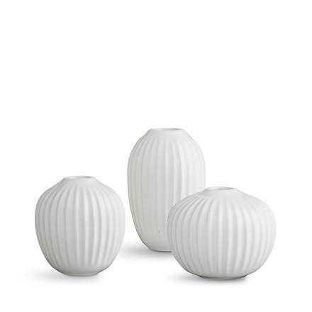 Kähler Hammershøi minivase 3-pak hvid