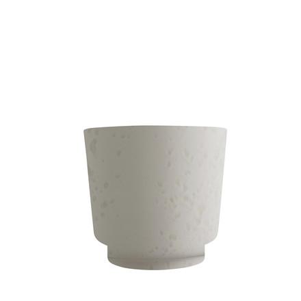 KÄHLER Ombria urtepotteskjuler 17 cm marmorhvid