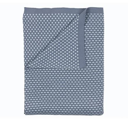 Södahl Brick knit plaid 130 x 170 cm china blue