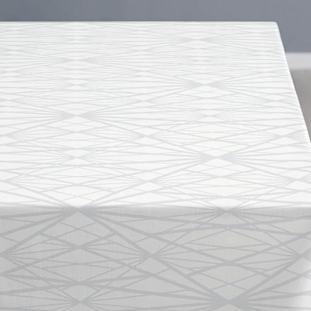 Södahl Diamond Grid dug 140 X 220 cm hvid