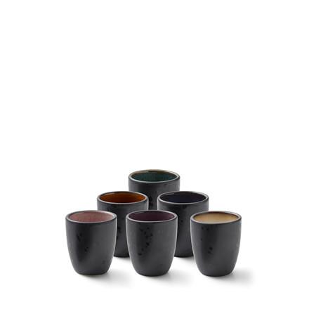 BITZ Espressokop 6stk sort m/farve