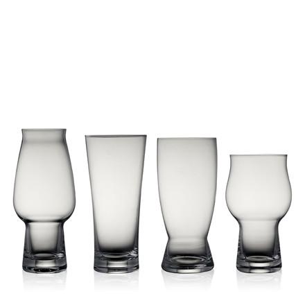 LYNGBY Ølglas 4 ass. glas