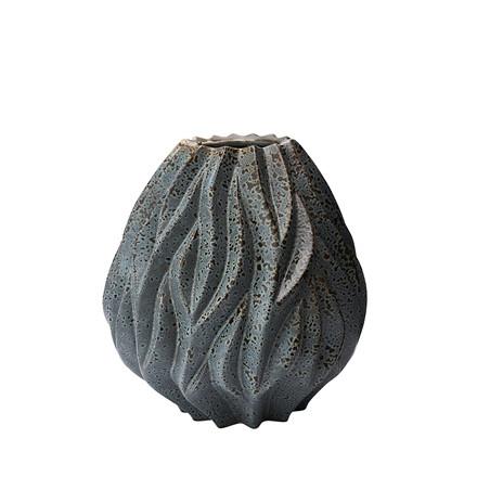MORSØ Vase Flame 15 cm grå