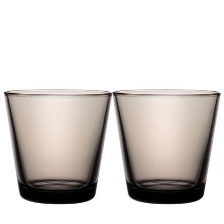 IITTALA Kartio glas 21 cl grå 2 stk.