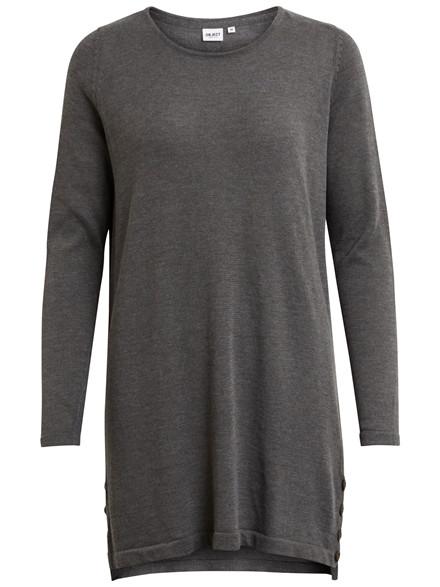 OBJECT Anna light knit dress grå