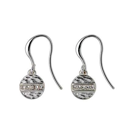 PILGRIM øreringe, sølv belagt krystal