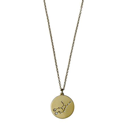 PILGRIM stjernetegnshalskæde Jomfruen guldbelagt