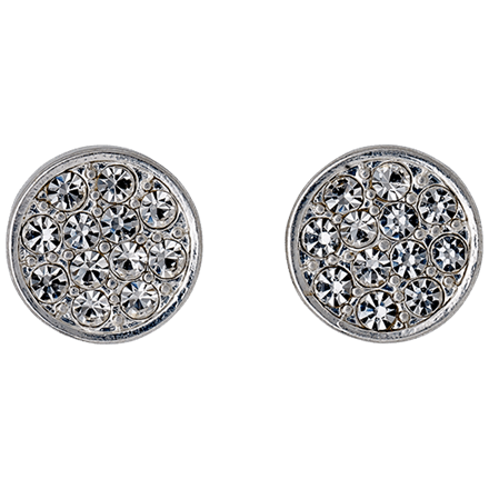 PILGRIM Øreringe, sølv, krystal