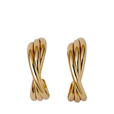 PILGRIM Jenifer_PI guldbelagte øreringe