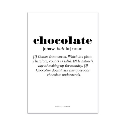 MEN'S LOUNGE Chocolate Definition 30x40