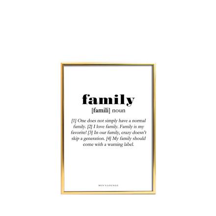 MEN'S LOUNGE Plakat - Family Definition A5