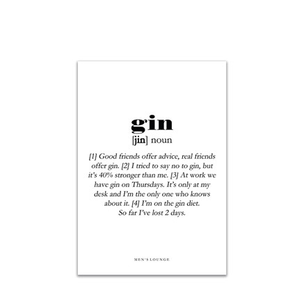 MEN'S LOUNGE Gin definition A4