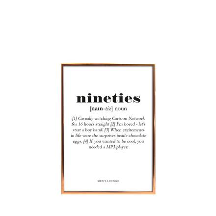 MEN'S LOUNGE Plakat - Nineties A5