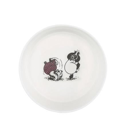 RASMUS KLUMP BY METTE DITMER skål porcelæn m. sort/rødt print