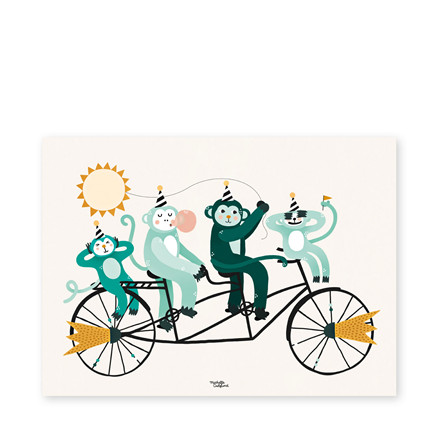 ROOM2PLAY Monkey Business 50x70 cm