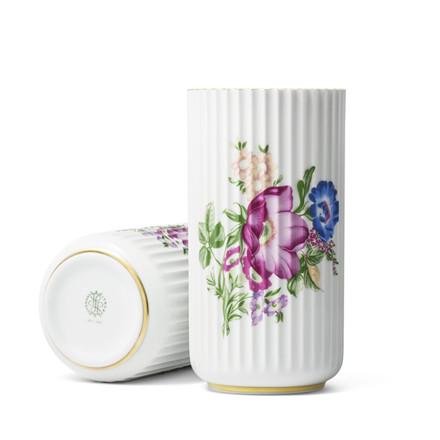 LYNGBY PORCELÆN Lyngby Vase m/blomster h20cm