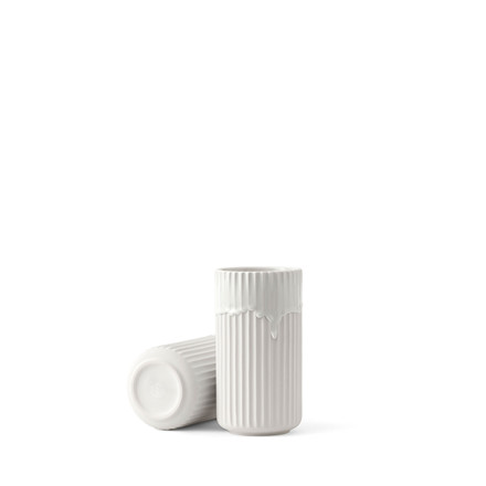LYNGBY Porcelæn Lyngbyvasen 20cm hvid med løbe