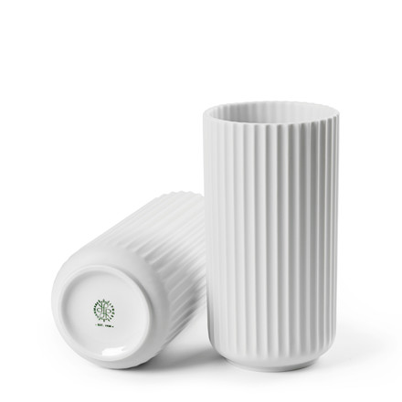 LYNGBY PORCELÆN Lyngby Vase 20 cm mat hvid